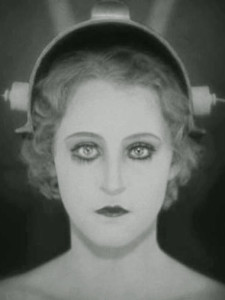 News_Metropolis_Brigitte Helm_Machine-Man, after the transformation_into Maria