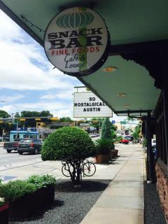 Snack Bar Austin restaurant South Congress sign