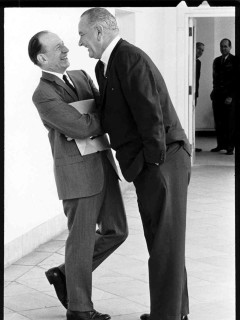 Abe Fortas getting the Johnson Treatment from LBJ