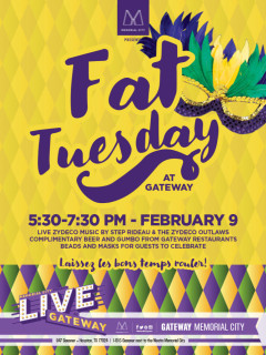 Memorial City presents Fat Tuesday at Gateway