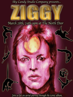 poster for Sky Candy aerial arts show Ziggy