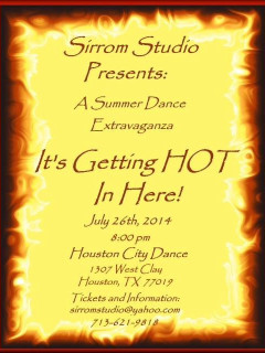 "Sirrom Studio presents ""A Summer Dance Extravaganza: It's Getting Hot In Here!"""