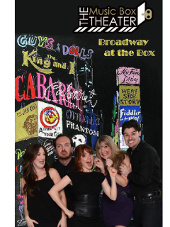 The Music Box Theater presents Broadway at the Box