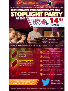 "Valentine's Day Singles ""Stoplight Party"""
