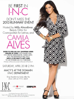 Camila Alves fashion show at Macy's at the Domain