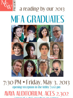 Graduate Students from UT Michener Center for Writing MFA reading