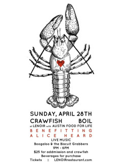 Lenoir crawfish boil fundraiser for Power Heard Austin Food for Life