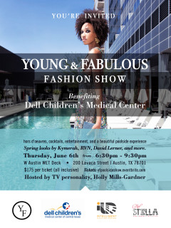 Young and Fabulous Fashion Show benefit on the Wet Deck at the W