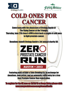 Cold Ones for Cancer - Zero Prostate Cancer Run