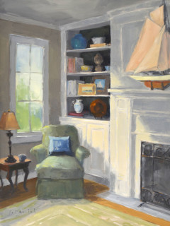 painting Sun Drenched Corner by Laurel Daniel