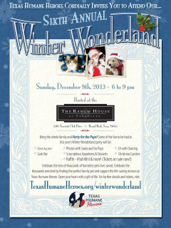 Sixth Annual Winter Wonderland for Texas Humane Heroes