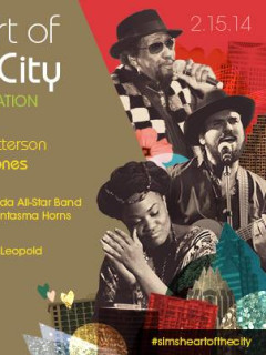 flyer for the SIMS Foundation Heart of the City benefit concert