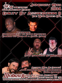 flyer for ACW's Guilty by Association 8 wrestling show