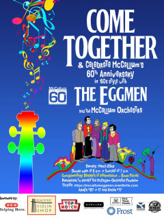 poster for The Eggmen and McCallum Orchestra Beatles fundraising concert