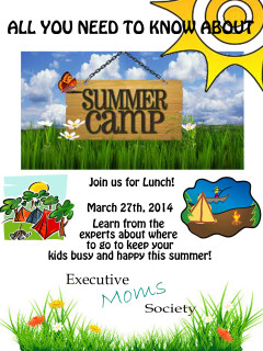 "Executive Moms hosts ""Jump Start on Summer Camps"""