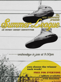 poster for Summer League competitions at the New Movement