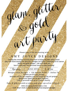 Glam, Glitter & Gold Art Party