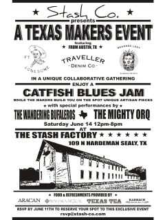 "Stash Co. hosts ""A Texas Makers Event and Catfish Blues Jam"""
