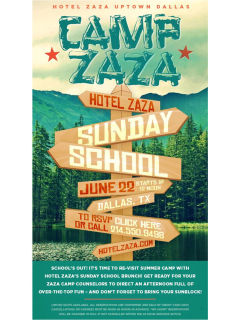 Hotel Zaza presents Camp Zaza