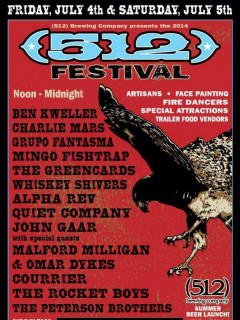 poster for (512) festival presented by (512) brewing company