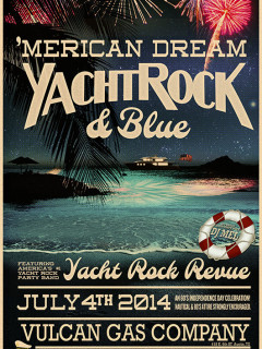 poster for Merican Dream yacht rock revue at Vulcan Gas Company