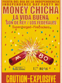 poster for Empire Control Room's Explosive Fiesta del dia de independencia