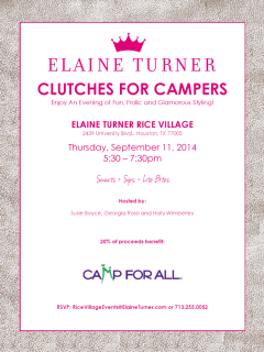 """Clutches for Campers"" benefiting Camp For All"