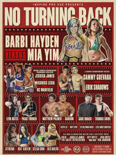 poster Inspire Pro Wrestling No Turning Back