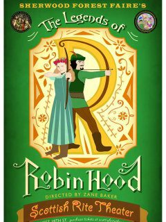 poster The Legends of Robin Hood at Scottish Rite Theater