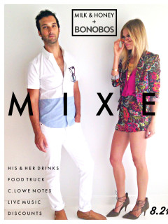 milk & honey, bonobos, mixer