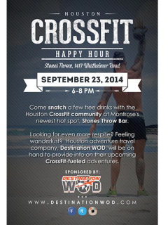 Houston CrossFit Community Happy Hour and DestinationWOD.com Launch