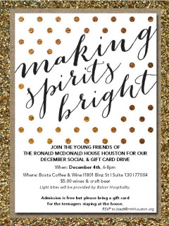 "Young Friends of the Ronald McDonald House Houston hosts ""Making Spirts Bright"""