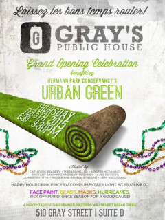 Urban Green Young Professionals Happy Hour