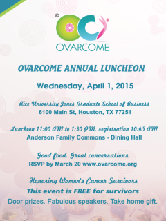 Ovarcome's Fourth Annual Luncheon Honoring Cancer Survivors