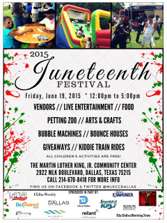 Martin Luther King Community Center Presents Dallas Juneteenth Festival