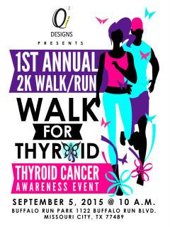 Qi2 Designs 2K Walk for Thyroid