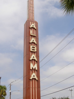Places-Unique-Alabama Theatre tower sign