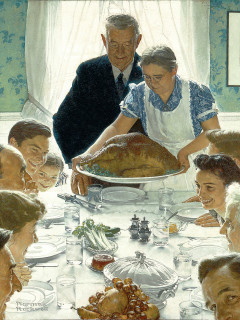 News_Norman Rockwell_Thanksgiving print
