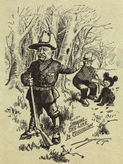 News_Steve Popp_Teddy Roosevelt_Drawing the Line in Mississippi_by Clifford Berryman_1902_Archives of American Art_Smithsonian Institution