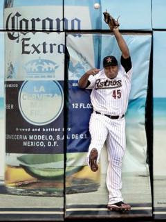 News_Carlos Lee_Astros_wall