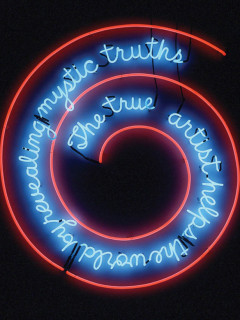 News_Bruce Nauman_The True Artist Helps the World by Revealing Mystic Truths_Window or Wall Sign_1967