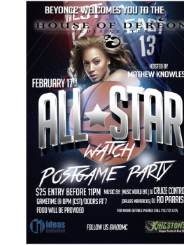 NBA All Star Game Watch and Post-Game Party
