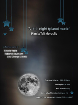 "Tali Morgulis piano recital: ""A little night (piano) music"""