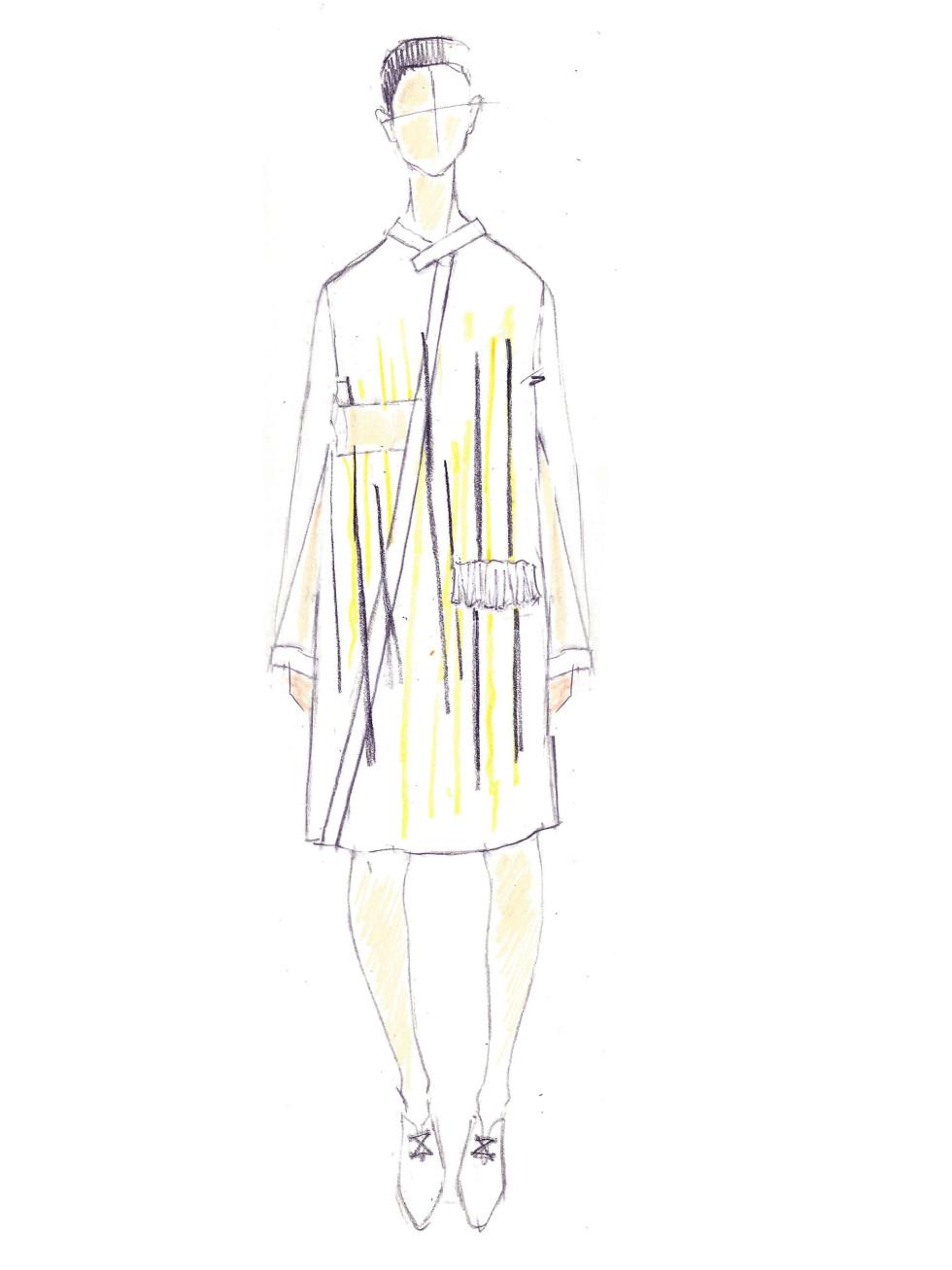 Ji Oh designer inspiration sketch spring 2017