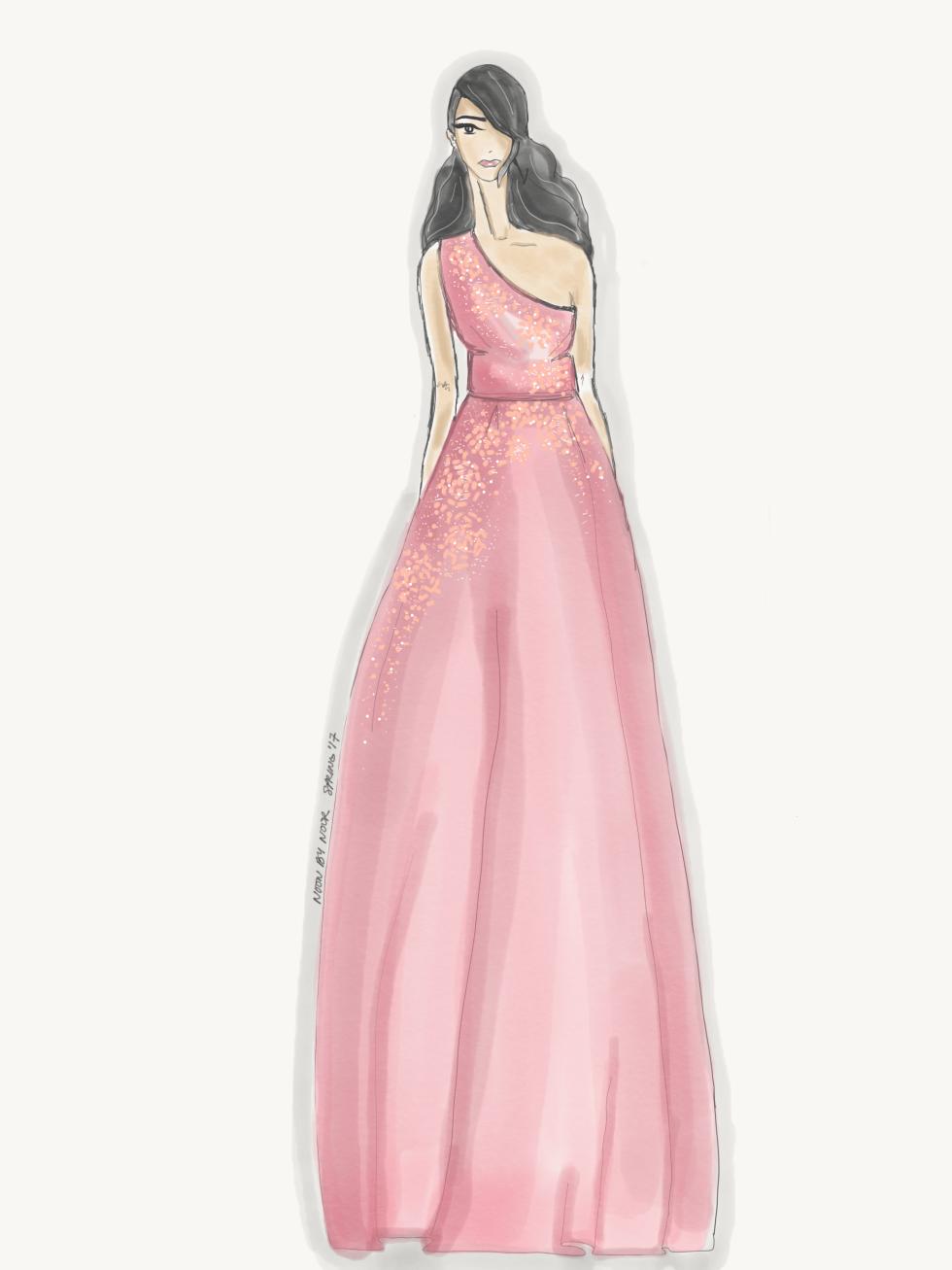 Noor by Noor designer inspiration sketch spring 2017