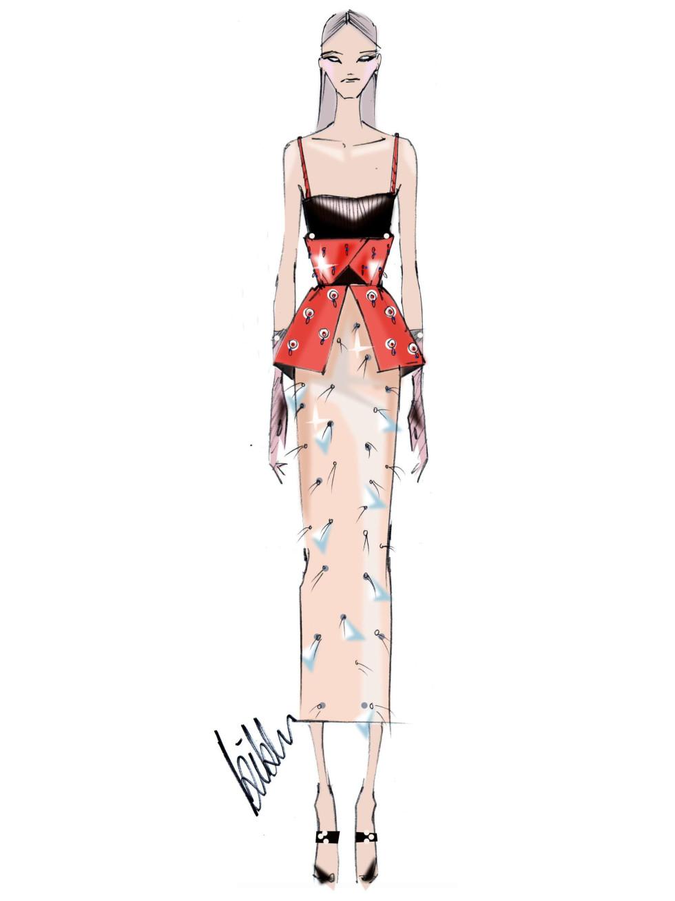 Bibhu Mohapatra designer inspiration sketch spring 2017