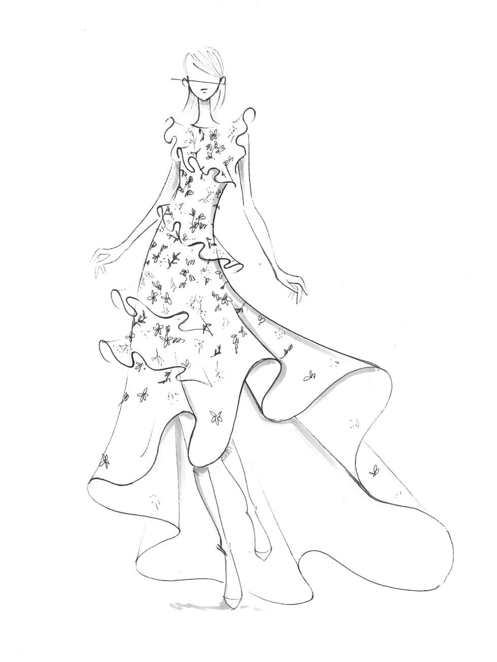 Sachin & Babi designer inspiration sketch spring 2017