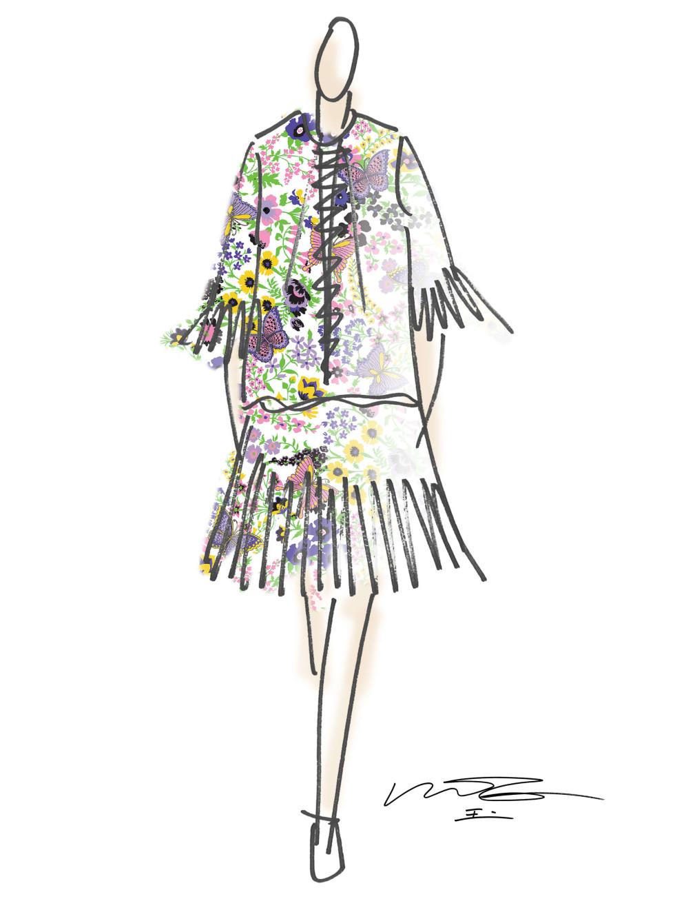 Vivienne Tam designer inspiration sketch spring 2017