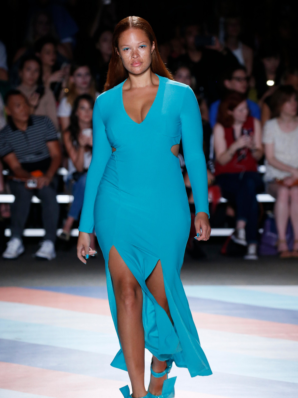 Christian Siriano look 15 plus size model