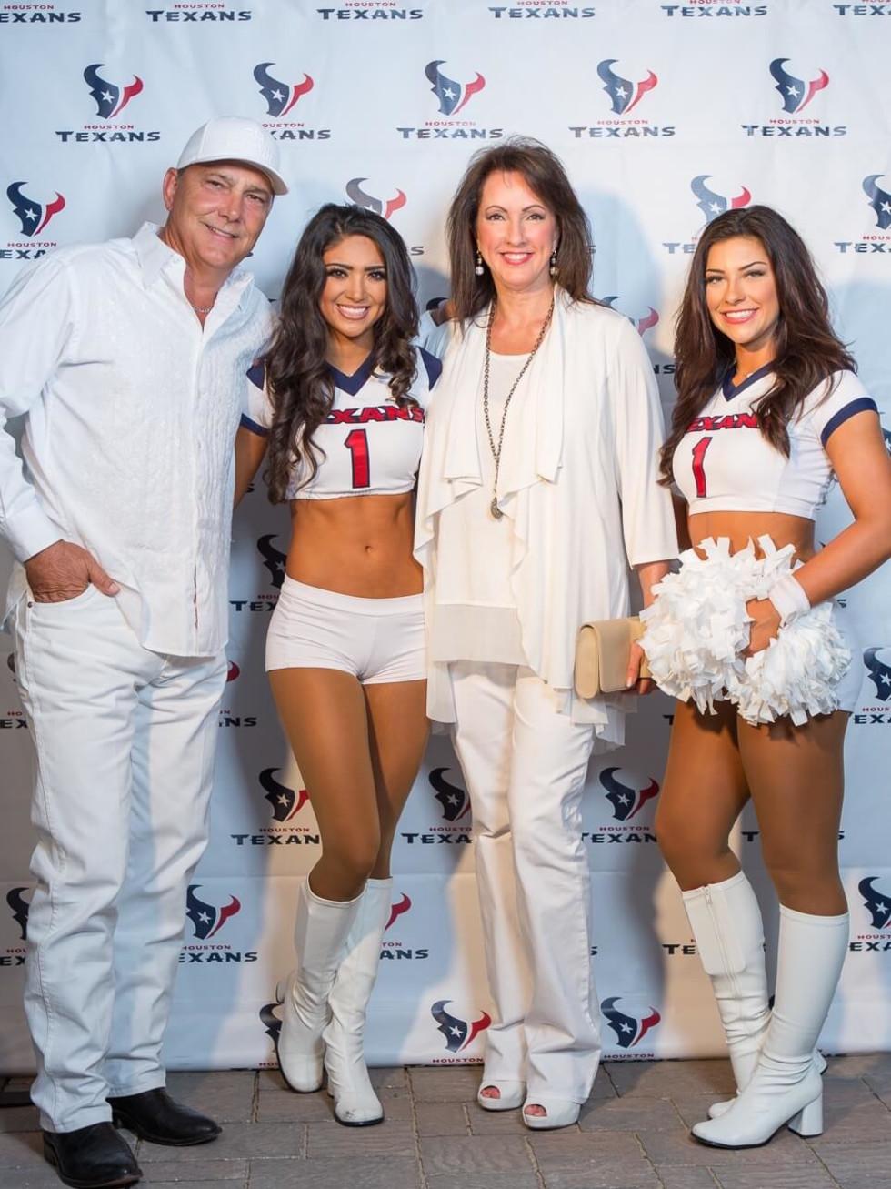 Loya Texans White Out party, 9/16 Lance Smith, Alicia Smith